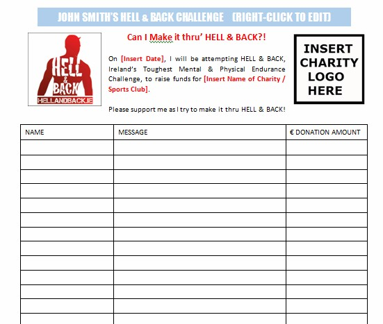 SPONSOR FORM. Help With Fundraising  How To Make A Sponsor Form